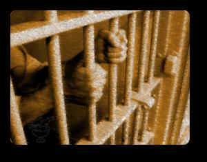 Prisoner grasping bars